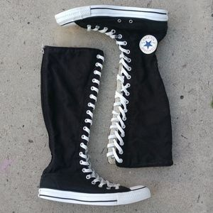 Converse All-Star High Top Knee High Lace Up Shoes